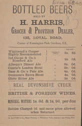 Advert For Bottled Beers